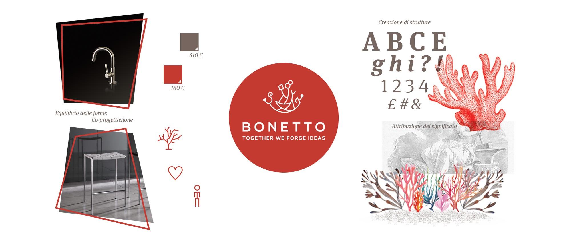 Creazione del marchio e della tavola stilistica della comunicazione aziendale per Bonetto