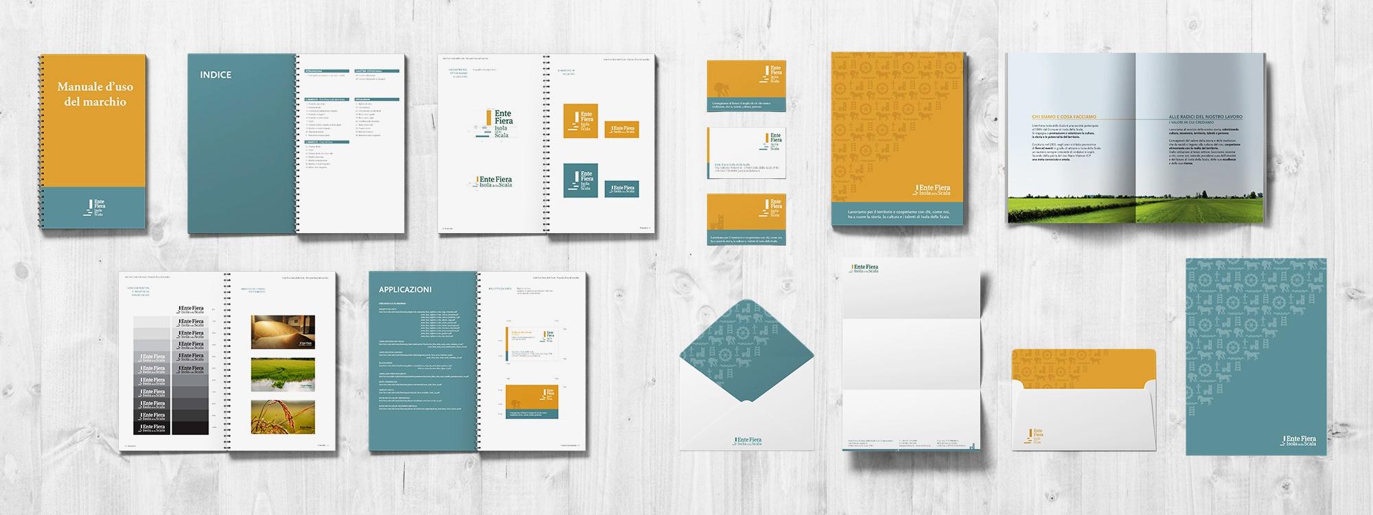 Stationary e Manuale d'uso del marchio progettati per Ente Fiera Isola della Scala