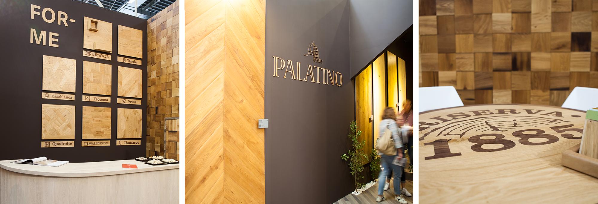 Esempio di allestimento per stand fieristico e showroom pavimenti in legno Mardegan Legno