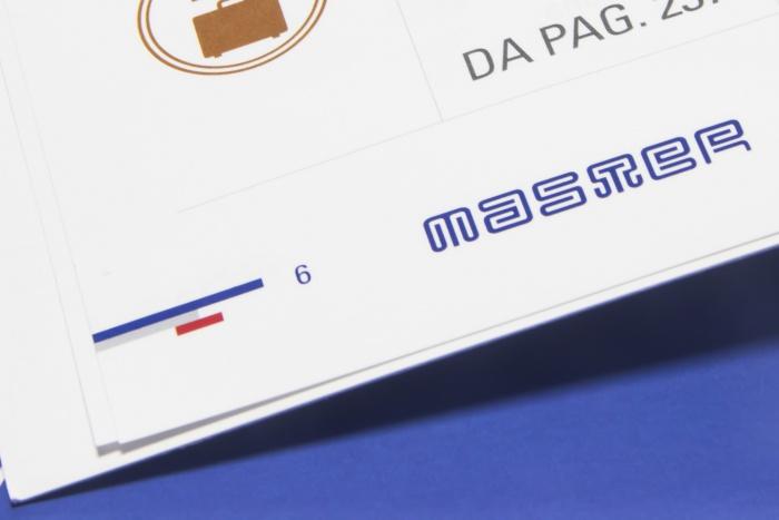 L'immagine coordinata applicata al catalogo prodotti di Master
