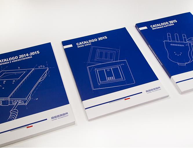Esempi di applicazione dell'immagine aziendale: I cataloghi di linea di Master