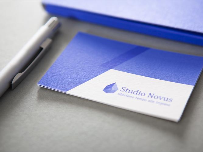 Biglietti da visita e immagine coordinata per studio associato Studio Novus