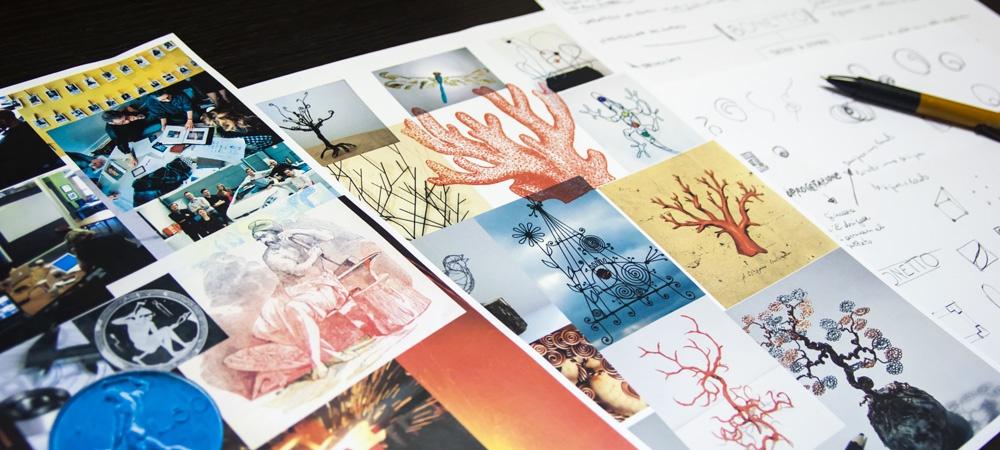 Tavole stilistiche per la progettazione del marchio Bonetto