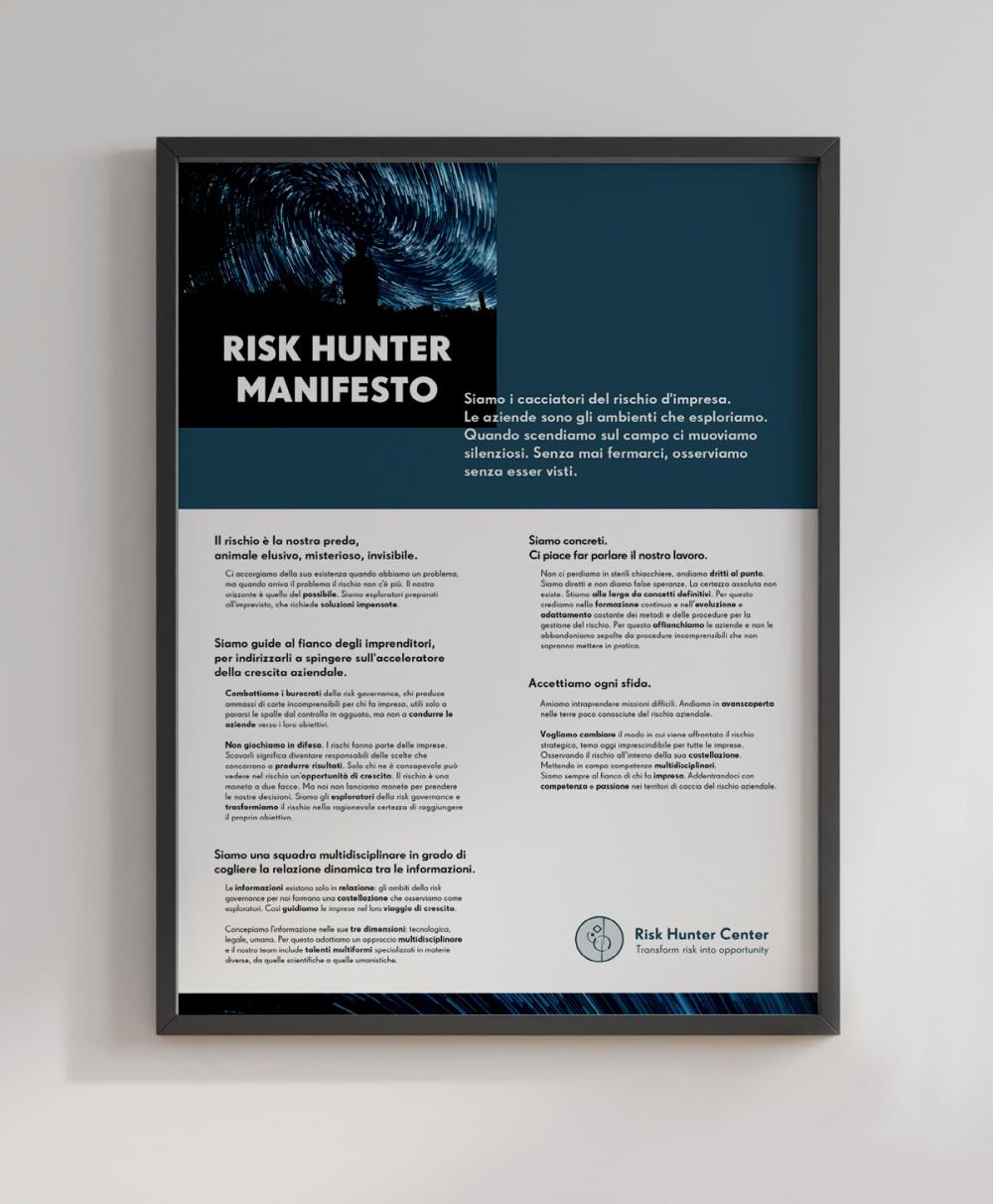 text-manifesto risk hunter center