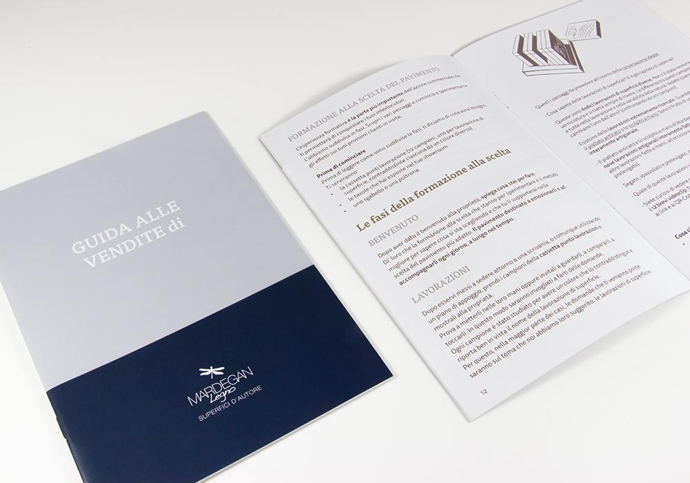 text-Esempio di guida alle vendite, lo strumento per agenti di commercio e rivenditori del brand Mardegan Legno