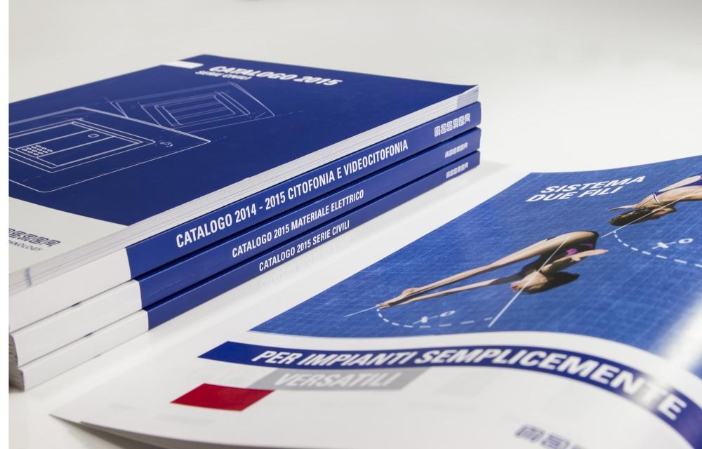 Creazione dell'immagine coordinata e impaginazione di cataloghi e listini prezzi per Master